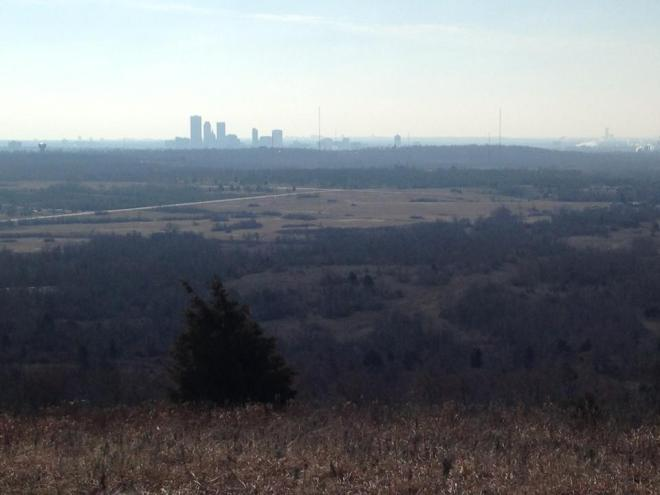 A hilltop view, looking toward downtown Tulsa.